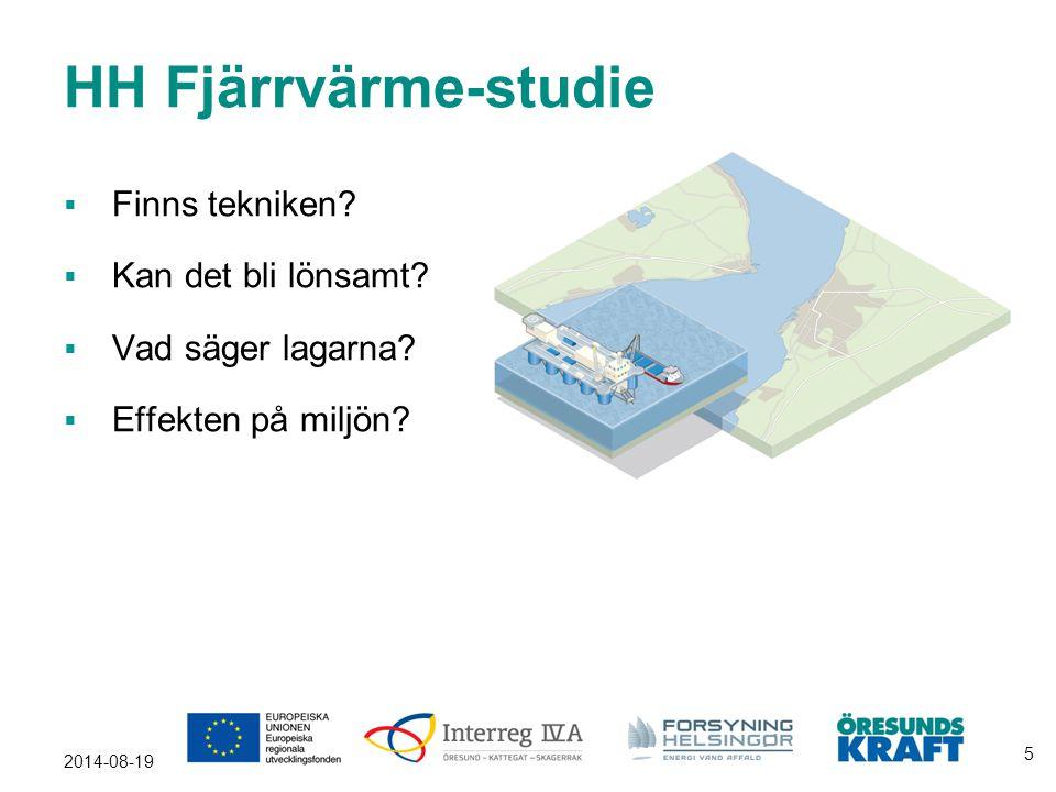 2014-08-19 5 HH Fjärrvärme-studie  Finns tekniken?  Kan det bli lönsamt?  Vad säger lagarna?  Effekten på miljön?