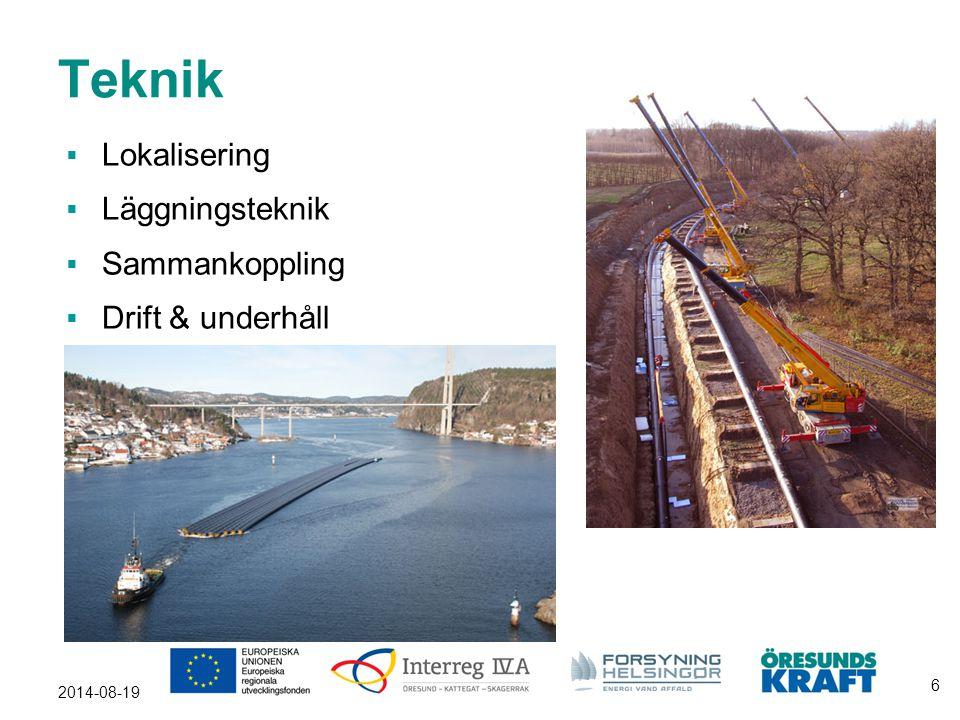 2014-08-19 6 Teknik  Lokalisering  Läggningsteknik  Sammankoppling  Drift & underhåll