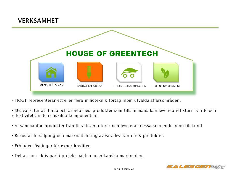 VERKSAMHET HOGT representerar ett eller flera miljöteknik förtag inom utvalda affärsområden. Strävar efter att finna och arbeta med produkter som till