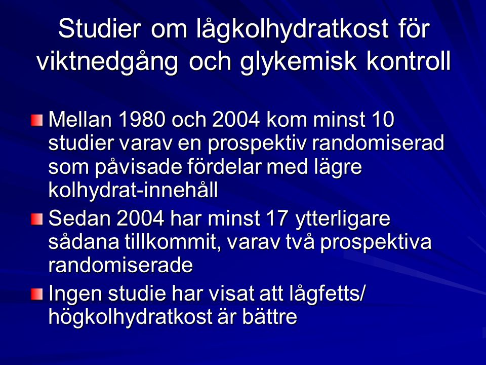 Kolhydratfattig kost vid typ-2 diabetes; single-arm studier Vernon et al.