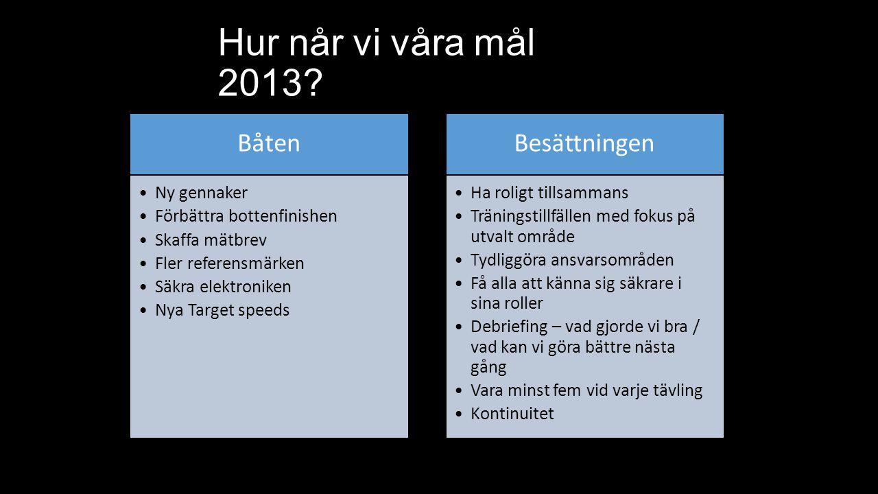 Hur når vi våra mål 2013