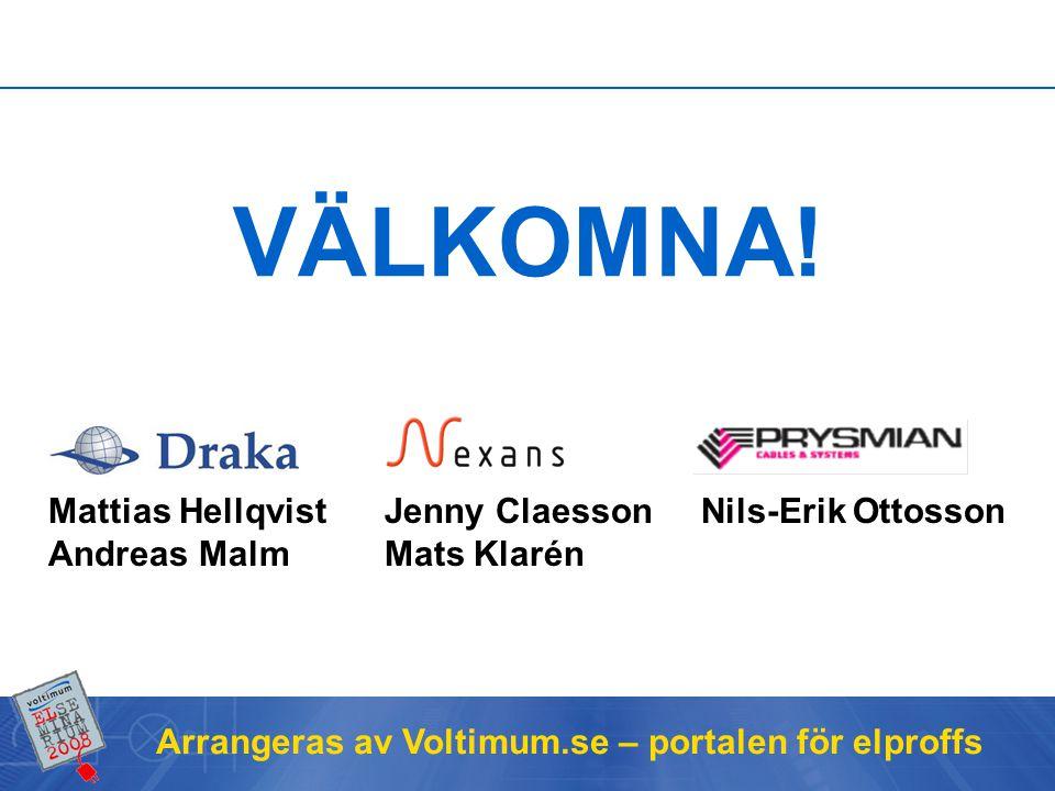 Arrangeras av Voltimum.se – portalen för elproffs Framtidens installationskablar