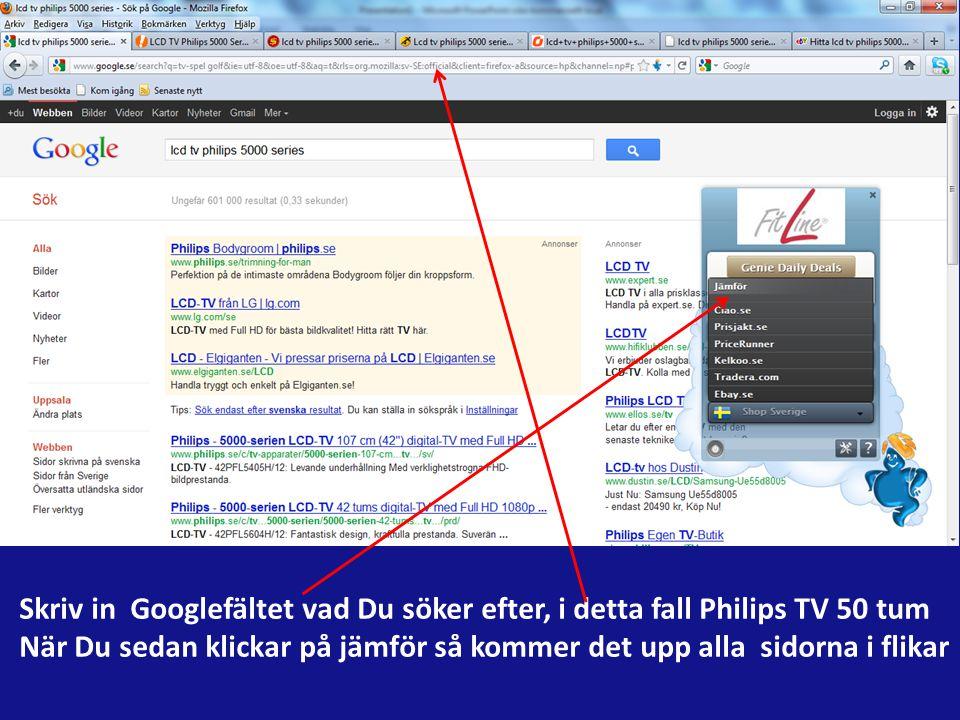 Appen söker på alla de stora prissidorna i Sverige