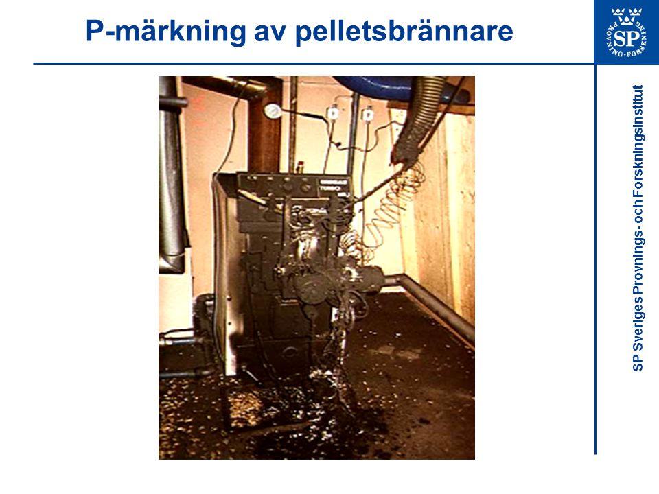 SP Sveriges Provnings- och Forskningsinstitut P-märkning av pelletsbrännare