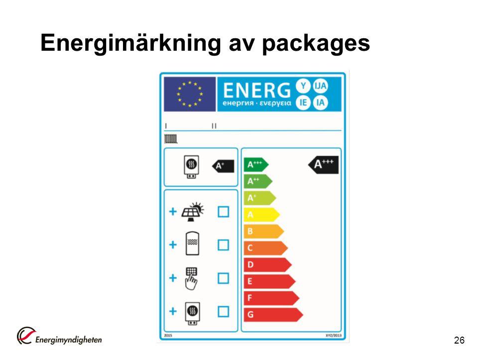 Energimärkning av packages 26