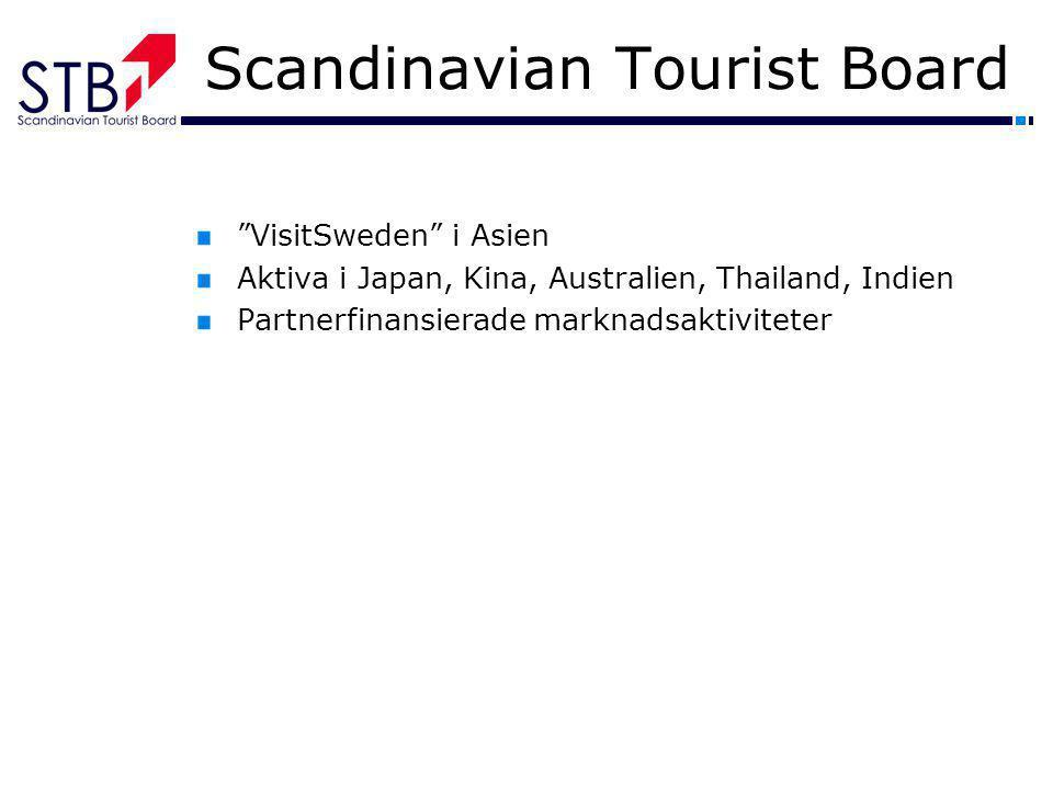 "Scandinavian Tourist Board ""VisitSweden"" i Asien Aktiva i Japan, Kina, Australien, Thailand, Indien Partnerfinansierade marknadsaktiviteter"