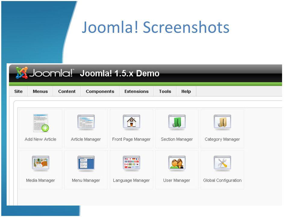Joomla! Screenshots