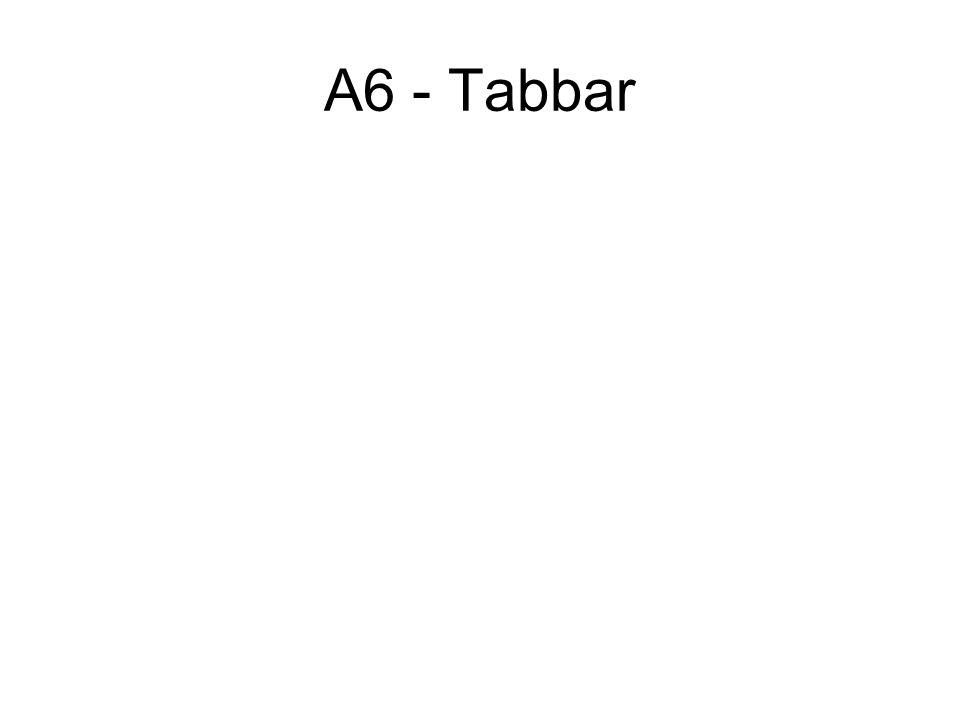 A6 - Tabbar