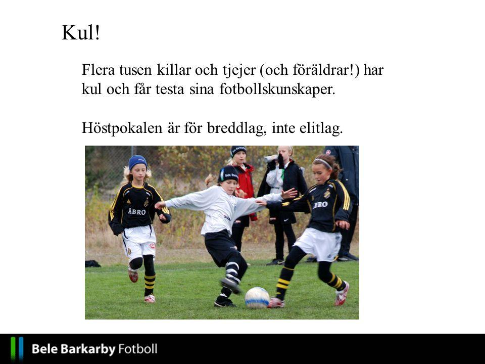 Flera tusen killar och tjejer (och föräldrar!) har kul och får testa sina fotbollskunskaper.