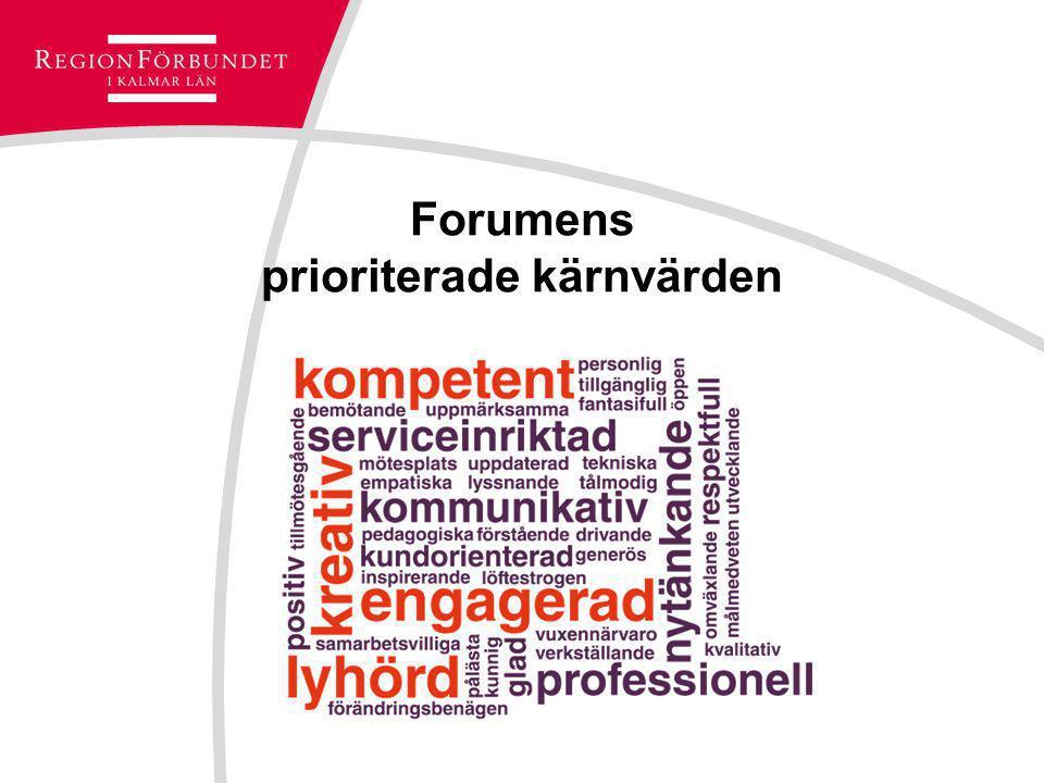 Forumens prioriterade kärnvärden