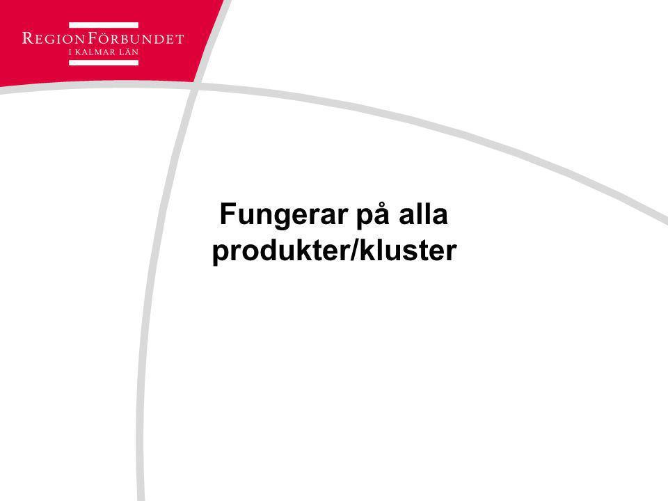 Fungerar på alla produkter/kluster