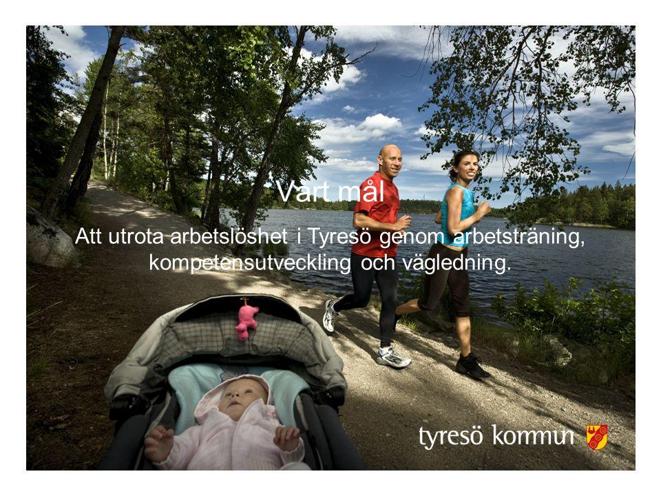 Vårt mål Att utrota arbetslöshet i Tyresö genom arbetsträning, kompetensutveckling och vägledning.