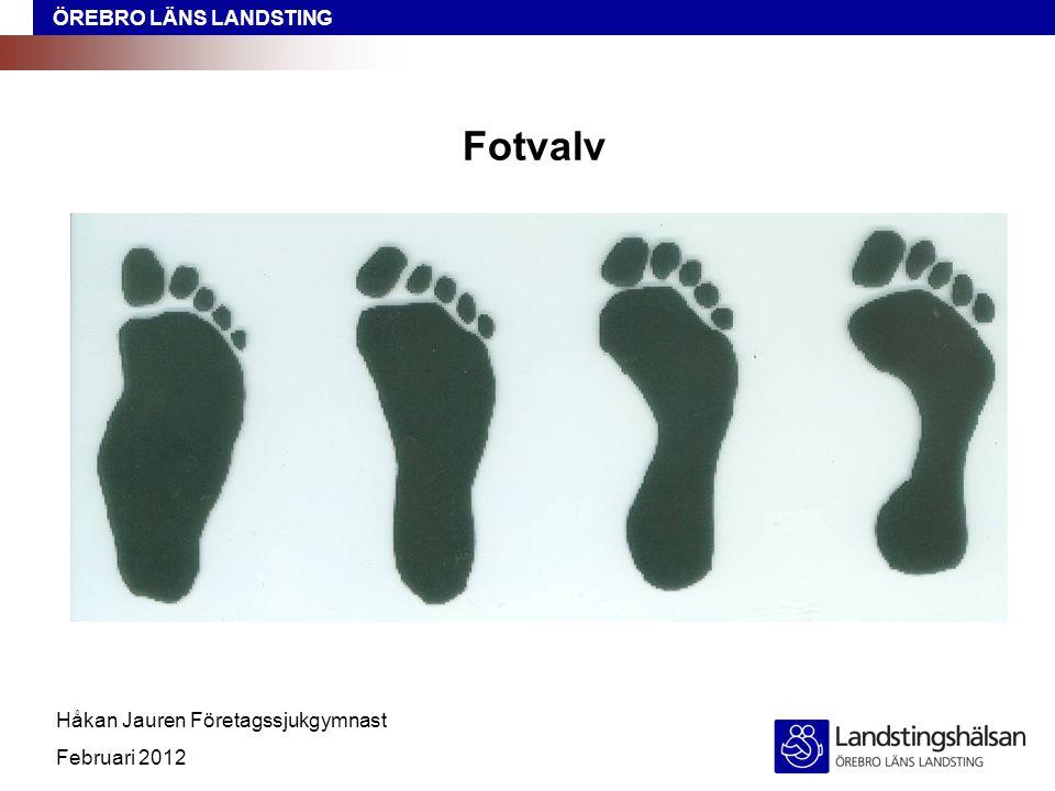 ÖREBRO LÄNS LANDSTING Håkan Jauren Företagssjukgymnast Februari 2012 Fotvalv