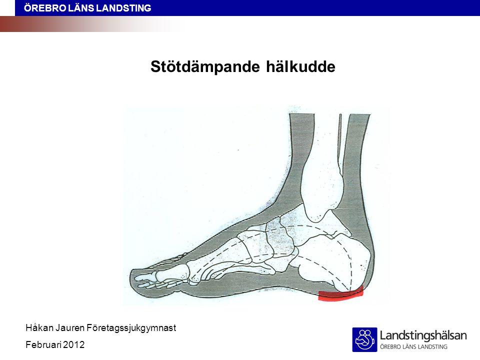 ÖREBRO LÄNS LANDSTING Håkan Jauren Företagssjukgymnast Februari 2012 Stötdämpande hälkudde