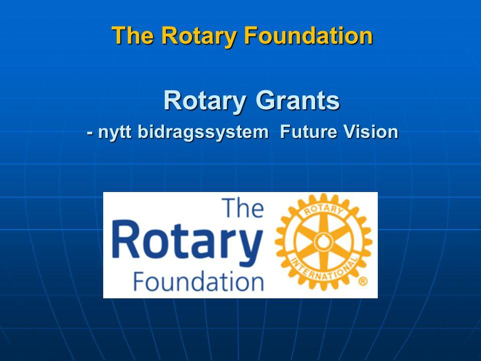 Rotary Foundations uppgift Att möjliggöra för rotarianerna att främja internationellt samförstånd, skapa goodwill och fred genom att förbättra hälsa, stödja utbildning och lindra fattigdom .
