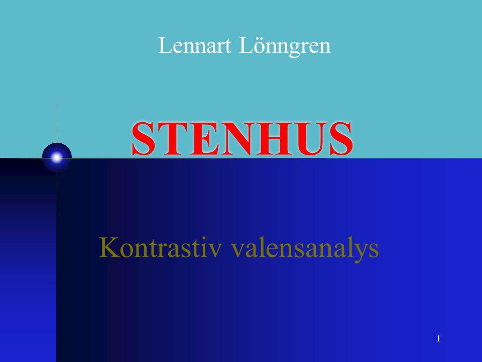 1 STENHUS Kontrastiv valensanalys Lennart Lönngren