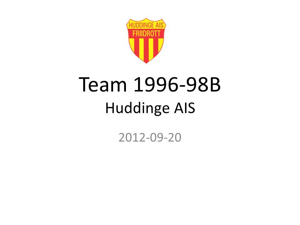 Team 1996-98B Huddinge AIS 2012-09-20