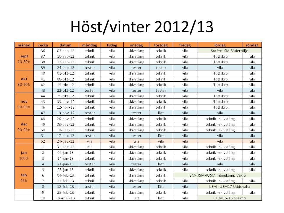 Höst/vinter 2012/13