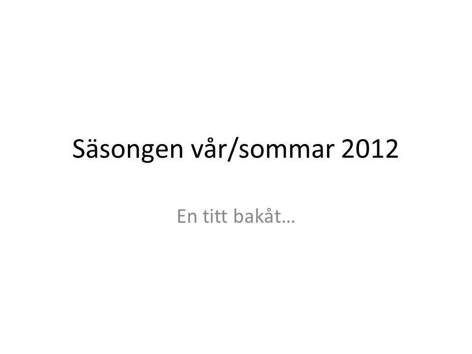 Säsongen vår/sommar 2012 En titt bakåt…