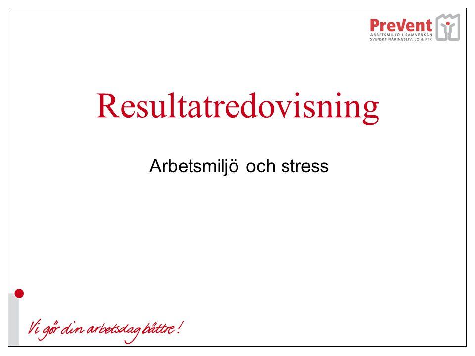 Resultatredovisning Arbetsmiljö och stress