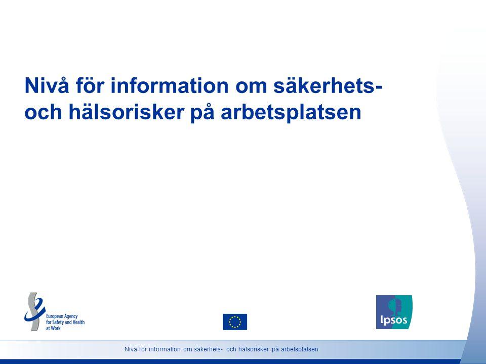 Nivå för information om säkerhets- och hälsorisker på arbetsplatsen