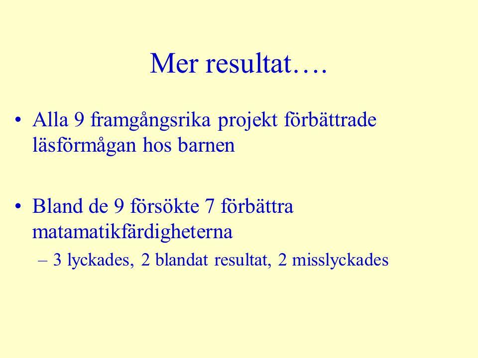 Mer resultat….