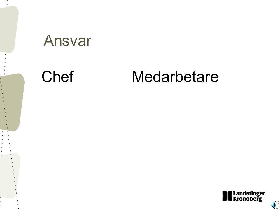 Ansvar ChefMedarbetare