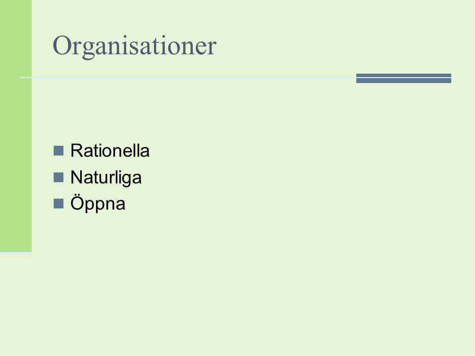 Den organisatoriska mognaden.