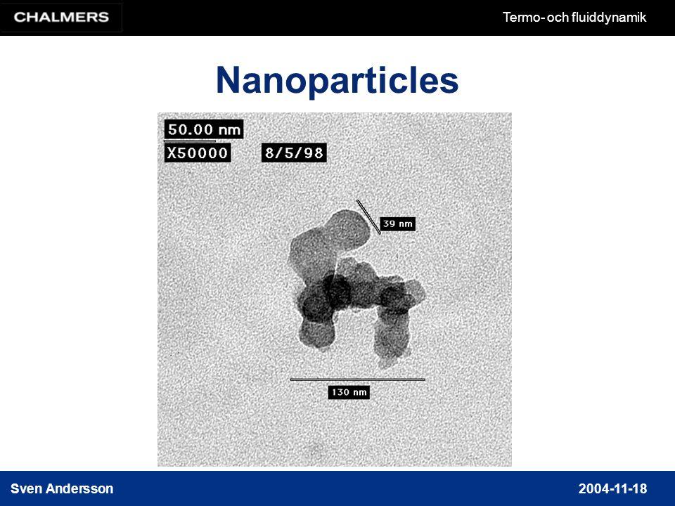 Sven Andersson2004-11-18 Termo- och fluiddynamik Nanoparticles