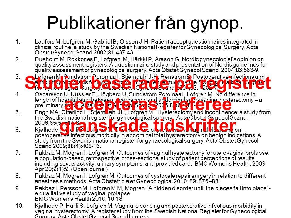 FoU medel till registerforskning Regeringsuppdrag Måns Rósens utredning kvalitetsregister.