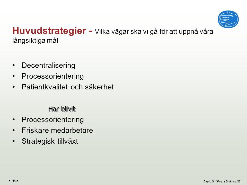 BJ 2005 Capio S:t Görans Sjukhus AB Skapar en helhetsbild Motiv 1