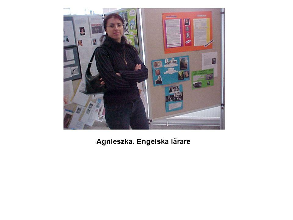 Agnieszka. Engelska lärare
