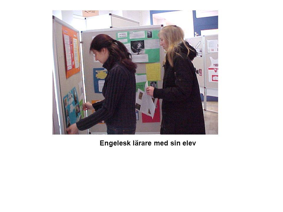 Engelesk lärare med sin elev