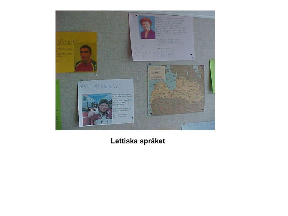 Lettiska språket