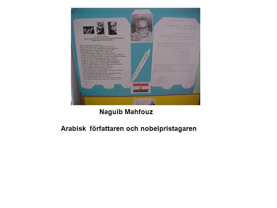 Naguib Mahfouz Arabisk författaren och nobelpristagaren