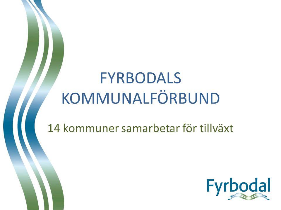 Fyrbodalskommunerna 14 till antalet 260 000 invånare 7684 km² Havet i väster Vänern i Öster Beläget mellan Oslo och Göteborg Gränsregion till Danmark och Norge