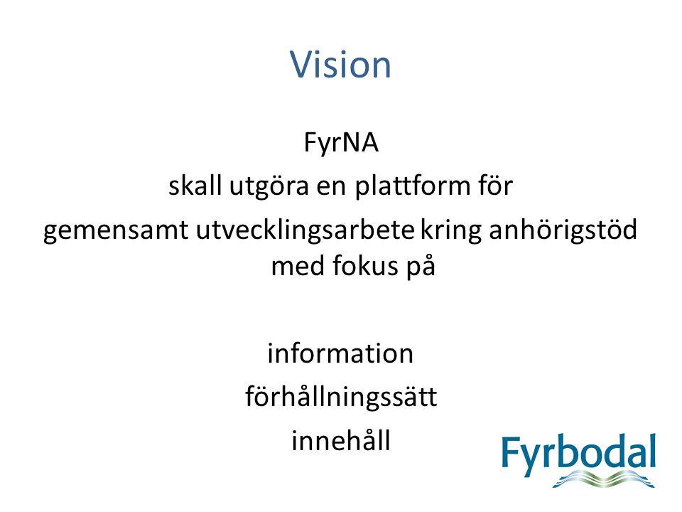 Mål FyrNA Stödja kommunernas utveckling av stödet till anhöriga