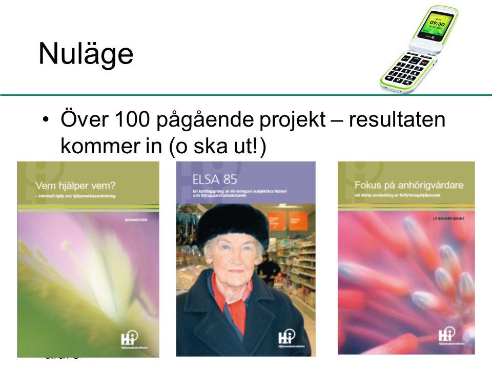 Nuläge Över 100 pågående projekt – resultaten kommer in (o ska ut!)