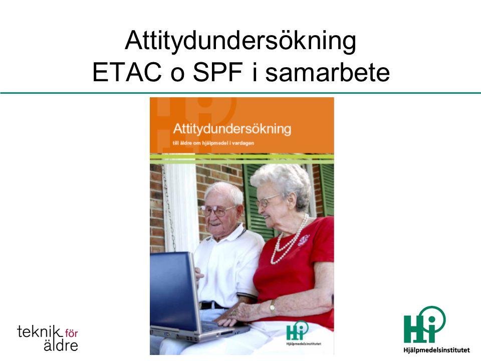 Attitydundersökning ETAC o SPF i samarbete