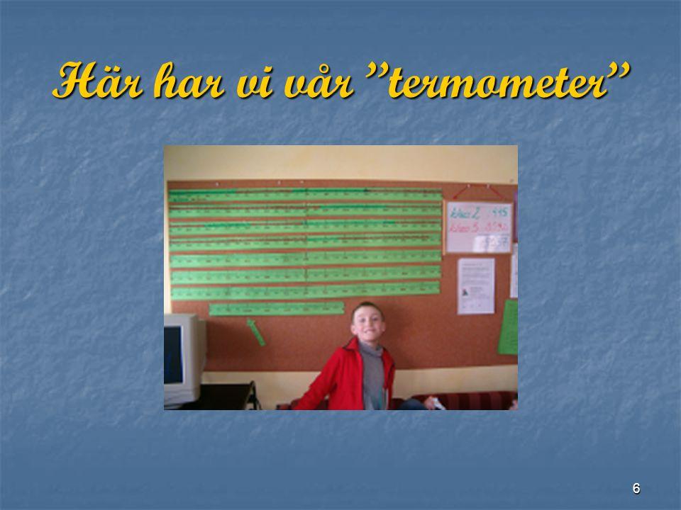 6 Här har vi vår termometer