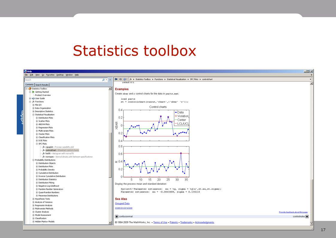17 Statistics toolbox