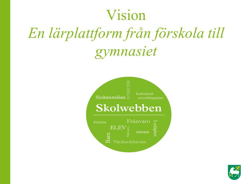 Vision En lärplattform från förskola till gymnasiet