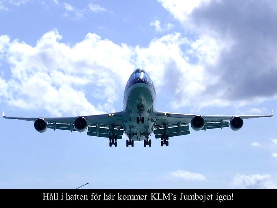 Håll i hatten för här kommer KLM's Jumbojet igen!