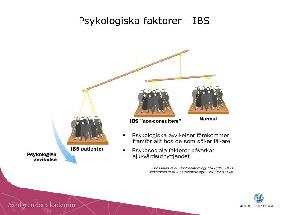 Psykologiska faktorer - IBS
