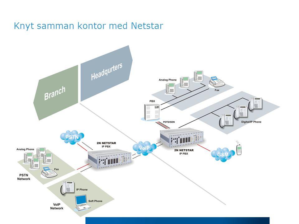 Knyt samman kontor med Netstar