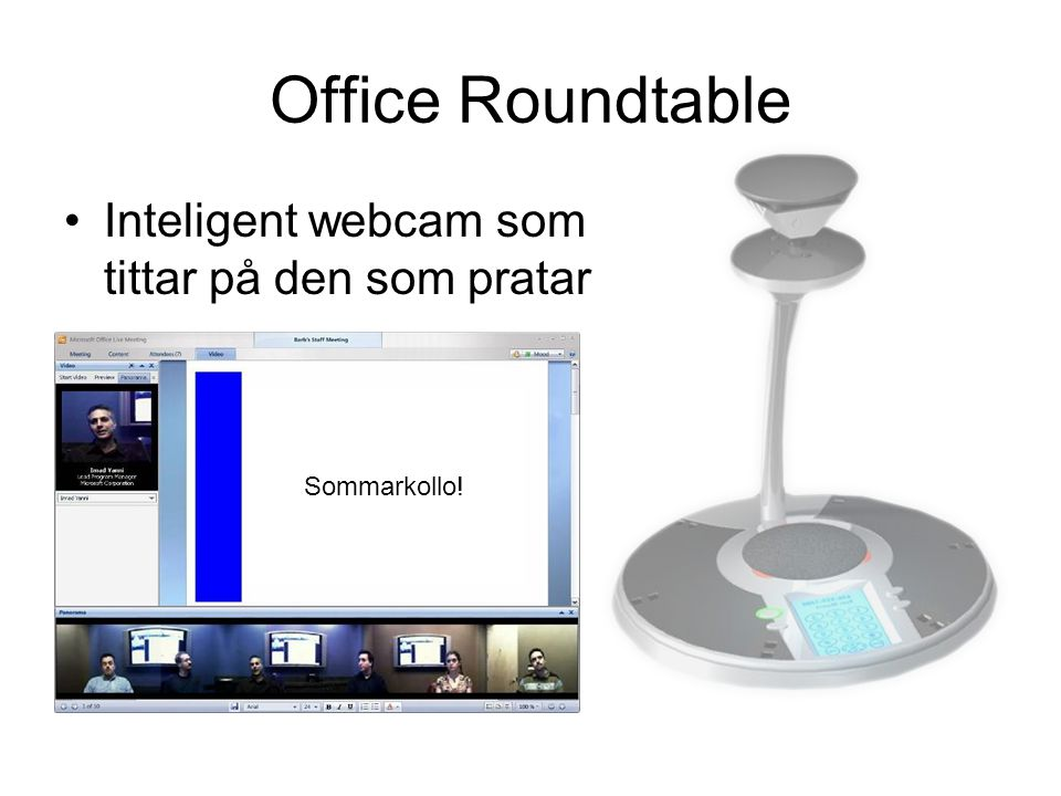 Office Roundtable Inteligent webcam som tittar på den som pratar Sommarkollo!