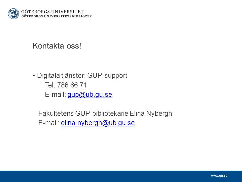 www.gu.se Kontakta oss.