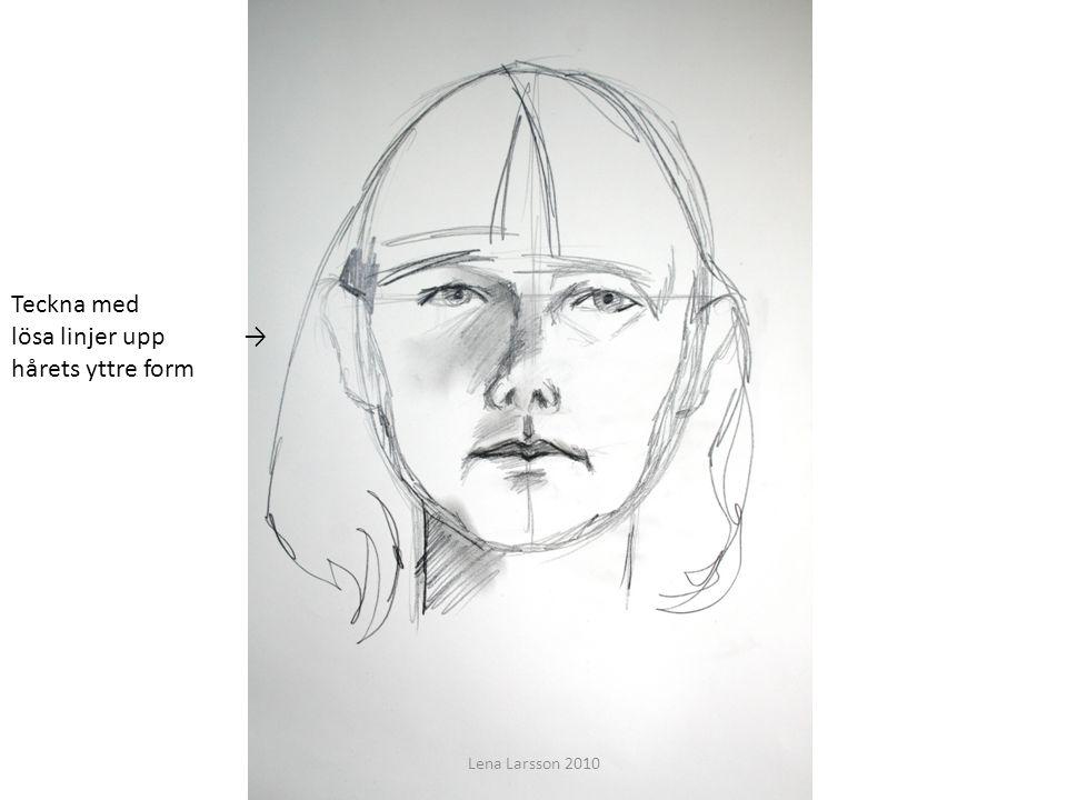 Teckna med lösa linjer upp → hårets yttre form Lena Larsson 2010
