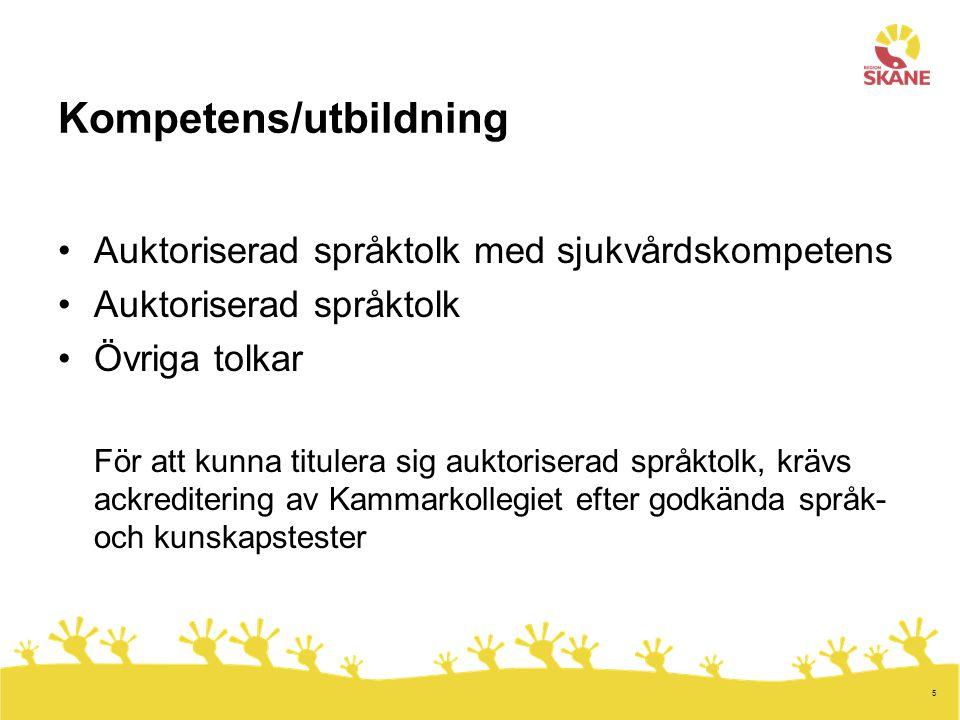 6 I Sverige förekommer idag tolkning på nästan 200 olika språk/dialekter.
