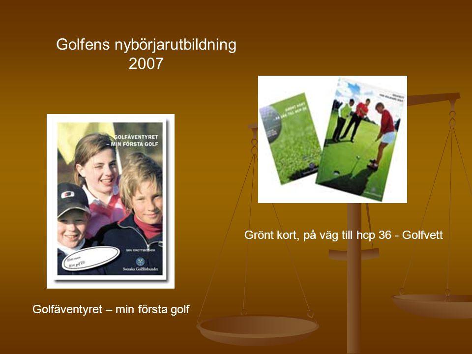 Grönt kort, på väg till hcp 36 - Golfvett Golfäventyret – min första golf Golfens nybörjarutbildning 2007